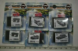 Lot 9-324 * N Scale GHQ Pewter Kits - 6 x Assorted Vehicles