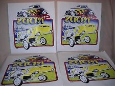 STREET ROD VINTAGE TEE SHIRT TRANSFERS LOT OF 10  LOT#T1