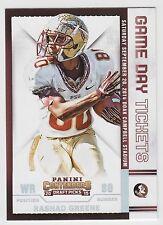 RASHAD GREENE 2015 Panini Contenders Draft Picks Game Day Tickets #37 Seminoles