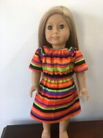 """Doll CLothes Peasant Casual Dress Fits 18"""" American girl Our Generation Doll"""