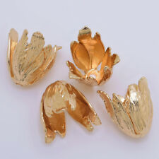 24k Gold Plated Flower Bead Caps Tulip Bead Caps diy 13.6*22mm 5pcs 10200404