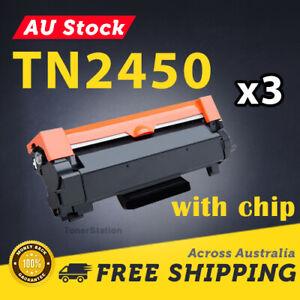 3x Toner for Brother HL-L2350DW HL-L2375DW HL-L2395DW MFC-L2710DW TN2450 W/CHIP
