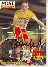 CYCLISME carte cycliste PIERRE BOURQUENOUD équipe POST SWISS TEAM  signée