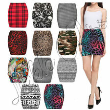 Checked Short/Mini Viscose Casual Skirts for Women