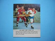1964/65 TORONTO STAR WEEKLY HOCKEY PHOTO LARRY JEFFREY MK DETROIT RED WINGS NICE