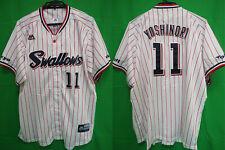 2016-2018 Tokyo Yakult Swallows Baseball Jersey Shirt Majestic Yoshinori #11 XL