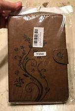 Galaxy Tab A 8.0 Folio Cover Stand Case w/Stylus, Brown w/ Butterflies NWT