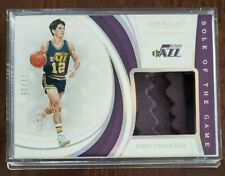 JOHN STOCKTON 2018-19 IMMACULATE SOLE OF THE GAME - SHOE - JAZZ HOF - **#/25**