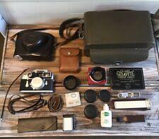 Vintage 1963 Leica DBP Ernst Leitz GMBH M3-1071940 Camera w/ Case and Extras