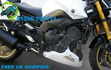 NEW POWERBRONZE BELLY PAN WHITE WITH GOLD MESH TO FIT YAMAHA FZ-8N FAZER 10-13