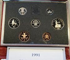 Great Britain 1991 Proof Set Red Case