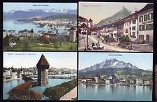 Switzerland 9 early topo PPCs Mixed lot