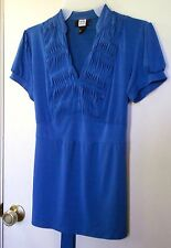 Studio 1940. Royal Blue short sleeve pullover blouse size S