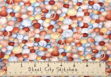 Rock Lucky Stone Pebble Nature 100% Cotton Fabric Blank Textiles -  HALF YARD