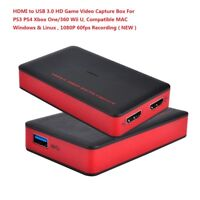 HDMI HD Game Capture Card 1080P Full HD Video Recorder For PS4 Xbox One/360 WiiU