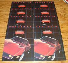 Original 1981 Chevrolet Corvette Sales Brochure Lot of 8 81 Chevy