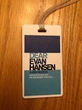 RARE Dear Evan Hansen Luggage Tag Broadway Ben Platt NYC Mint Condition