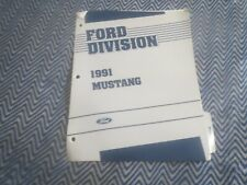 1991 FORD MUSTANG MUSTANG GT AND LX SALESMANS ALBUM BROCHURE SHEETS SET
