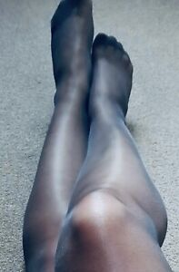 Glossy Shiny Sheer Black Pantyhose Nylon Stockings High Waist Lingerie Regular