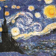 Van Gogh's STARRY NIGHT-Classic Art sleeveless women's top shirt NEW! Size S-XL