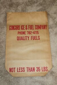 5 Vintage Antique Concord Fuel and Ice Coal Bags Never Used