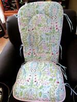 Carousel Designs Bebe Jardin Love Birds Damask 2pc Rocking Chair Nursery Set~109