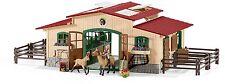 Schleich Farm World 42195 - Pferdestall mit Pferden und Zubehör