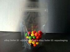100 Pcs 4x6 Stand Up Pouches 4 Mil Freezer Zipper Bags (CSUP-A) - CLEAR-Clear