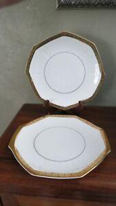 2 Hartman's Gold Rimmed Antique Platters