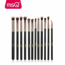 12Pcs Eye Makeup Brush Set Blend Shadow Angled Eyeliner Smoke Brushes Tools