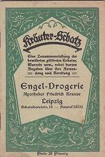 Kräuter-Schatz - Bewährte giftfreie Kräuter Engel-Drogerie Leipzig RAR! 0x KVK!