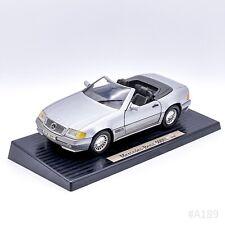 Vintage Mercedes-Benz Modellauto 500SL (1989) Maßstab 1:18 Silber