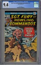 Sgt. Fury and his Howling Commandos #127 CGC 9.4 NM OwWp Marvel Comics 1975 WW2