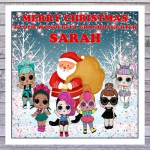 KIDS LOL DOLLS CHRISTMAS CARDS - personalised with any RELATIONSHIP & NAME