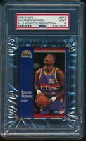 PSA 9 DIKEMBE MUTOMBO 1991-92 Fleer 3D Acrylic Wrapper Redemption #277 RC MINT