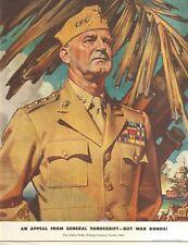 WWII BUY WAR BONDS NOW - GENERAL VANDEGRIFT -  ORIGINAL VINTAGE AD