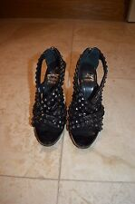 Women's Burberry black patent leather and studded heels UK size 5.5