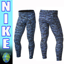 Nike Men's Size XL Tech Wilder Running Tight Blue Camo 839984