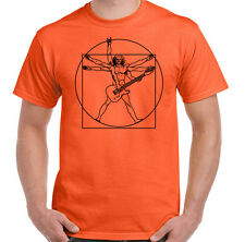 Vitruvian Guitarist Mens Funny Guitar T-Shirt Electric Bass Acoustic Amp Player