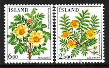 Iceland Sc# 586-87 Mint NH Set of Singles, Flowers