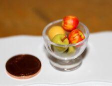 Schale mit Äpfeln * Miniaturen für Puppenhaus Puppenstube 1:12