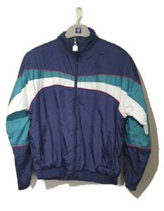 Wilson Vintage Retro Casual Rain Shell Festival Jacket Size Medium
