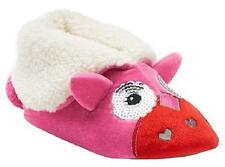 NEW Girls Youth Pink Cuddl Duds Animal Foldover Bootie Slippers sz 11/12