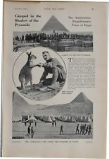 1915 WW1 Aufdruck Australasian Expeditionary Force IN Ägypten Camp Pyramiden