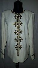 Bob Mackie's Embroidered Trompe L'oeil Fleur-de-Lis Jacket Size Small  7R