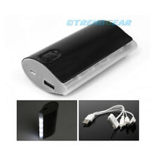 5200MAH BACKUP BATTERY CHARGER MICRO USB BLACK GALAXY S3 S4 NOTE TAB KINDLE FIRE