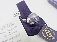 Vintage Modernist Finnish Kalevala Koru Silver 925 Dome Ring 10 1/4
