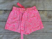 $78 Lilly Pulitzer Mylee Tie-Front Short Havana Pink Clawdia Neon NWT Size 2