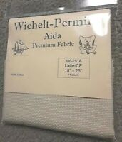 "Wichelt Imports PREMIUM Cross Stitch Fabric AIDA 14ct 18"" X 25"" LATTE"