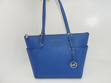 NWT New Michael Kors Handbag Jet set Item East West Top Zip Tote Blue Bag